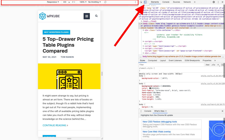 Cómo obtener una vista previa de los sitios de WordPress en dispositivos móviles - 1631802303 517 Como obtener una vista previa de los sitios de WordPress