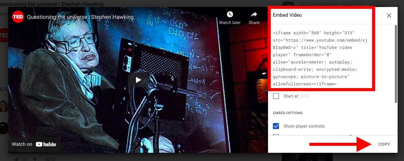 Cómo incrustar un video de YouTube en WordPress (6 métodos) - 1633848670 944 Como incrustar un video de YouTube en WordPress 6 metodos
